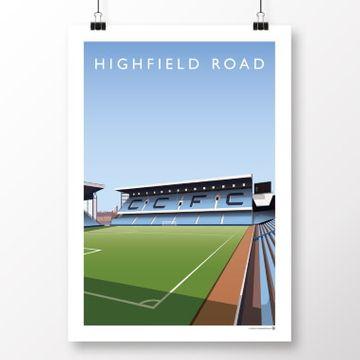 Championship & Football League Current Grounds Football Print