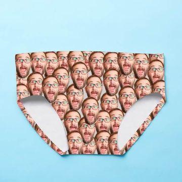 Personalised Photo Upload Men's Swimming Trunks