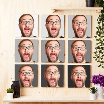 Personalised Photo Tiles - Set of 9