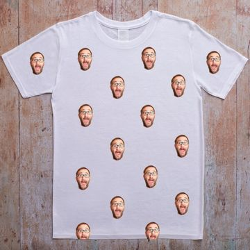 Personalised Repeat Face on T-shirt