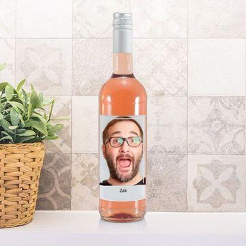 Personalised Photo Label Rosé Wine