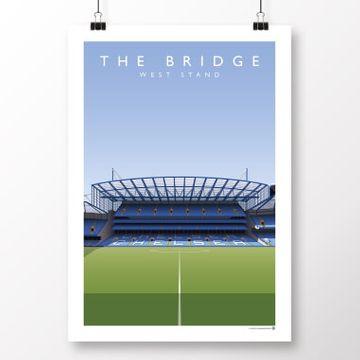Premier League Current Grounds Football Print