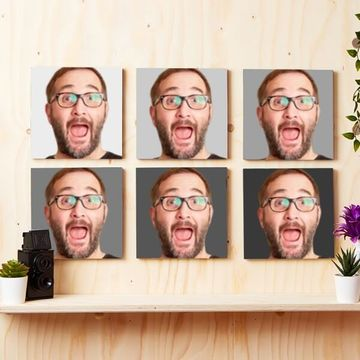 Personalised Photo Tiles - Set of 6