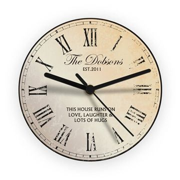 Personalised Rustic Glass Clock