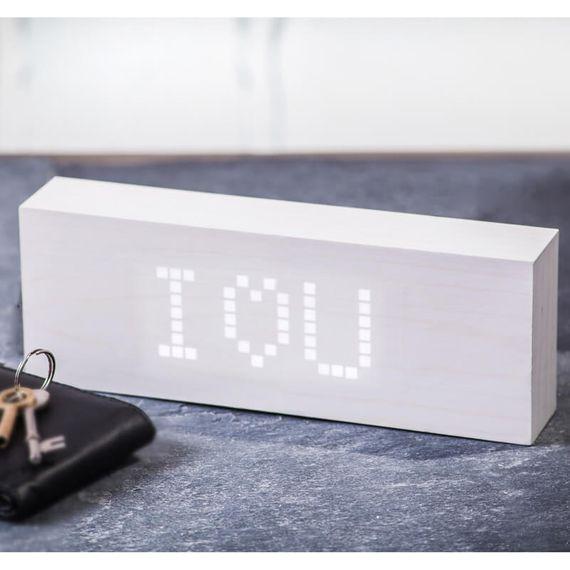 U Message Click Alarm Clock