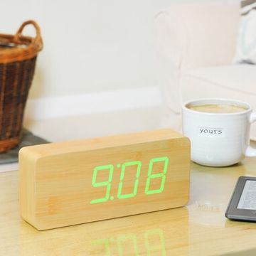 Rechargeable Slab Click Alarm Clock