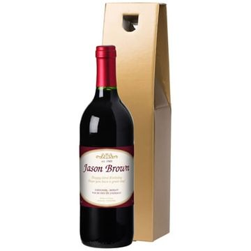 Personalised Bottle of Red Wine