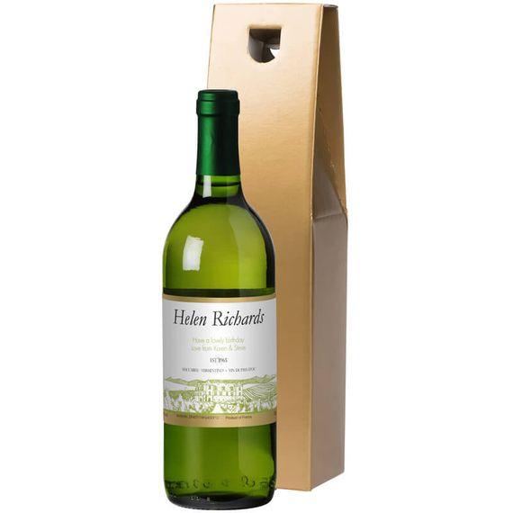 Personalised Bottle of White Wine
