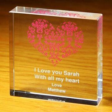 Personalised Ruby Wedding Anniversary Crystal Token