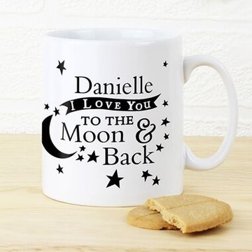Personalised To The Moon & Back Mug