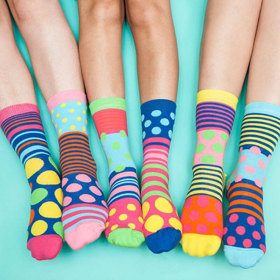 Polka Face Ladies Socks