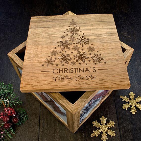 Personalised Christmas Tree Memory Box
