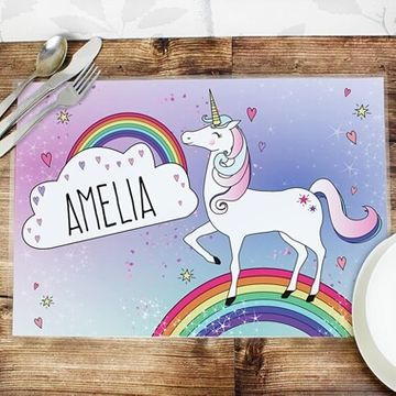 Personalised Kid's Unicorn Placemat