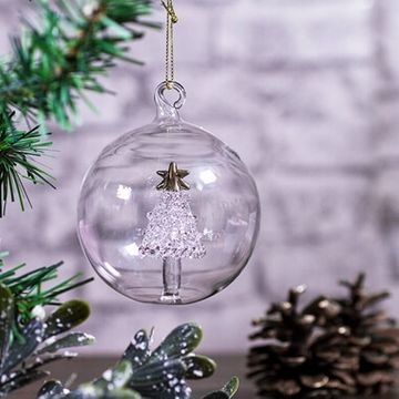 Personalised Glass Christmas Tree Bauble