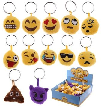 Emoji Plush Keychain With Sound