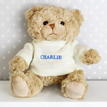 Personalised Teddy Bear - Blue Name