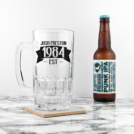 Personalised Pint of Beer Tankard