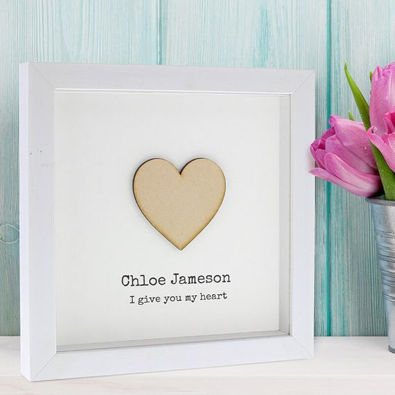 Personalised I Give You My Heart Frame