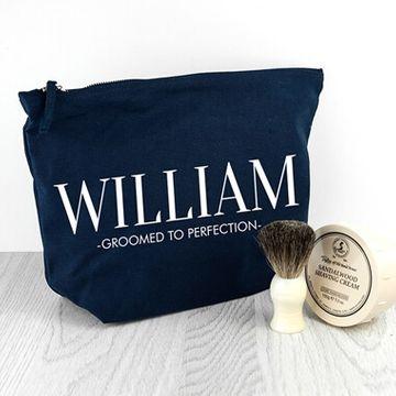 Personalised Men's Wash bag