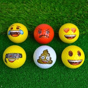 Emoji Golf Balls - Pack Of Six