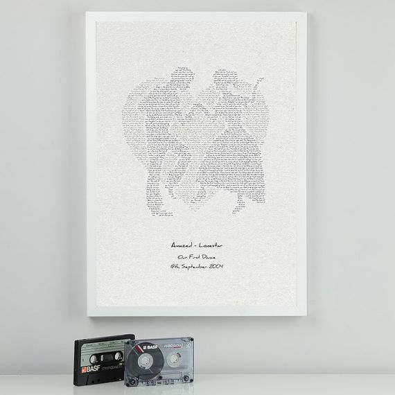 Personalised First Dance Lyrics Print