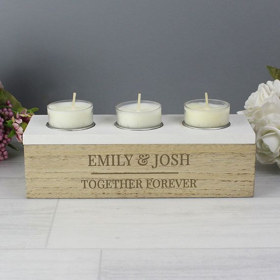 Personalised Tea Light Box