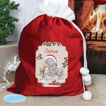 Personalised Luxury Me to You Reindeer Sack