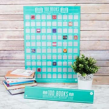 100 Books Scratch Off Poster