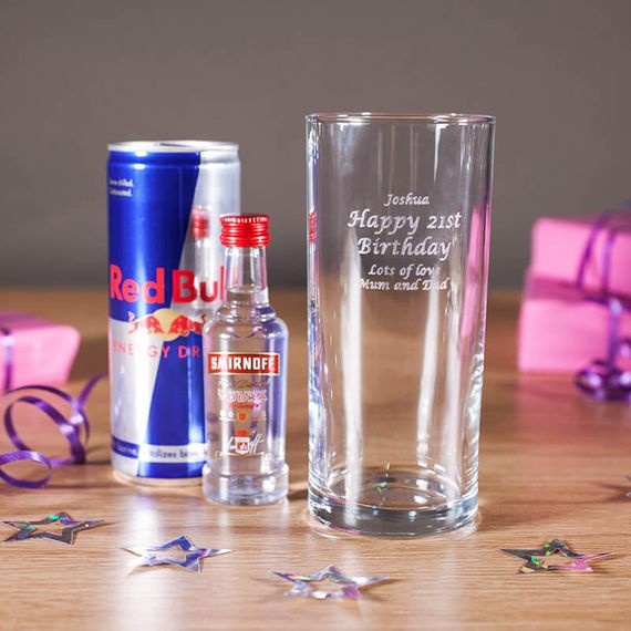 Personalised Vodka & Redbull Set