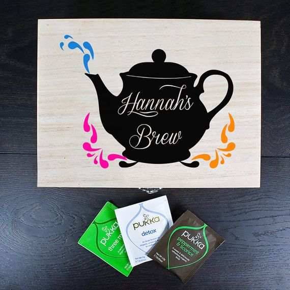 Personalised Favourite Brews Tea Box