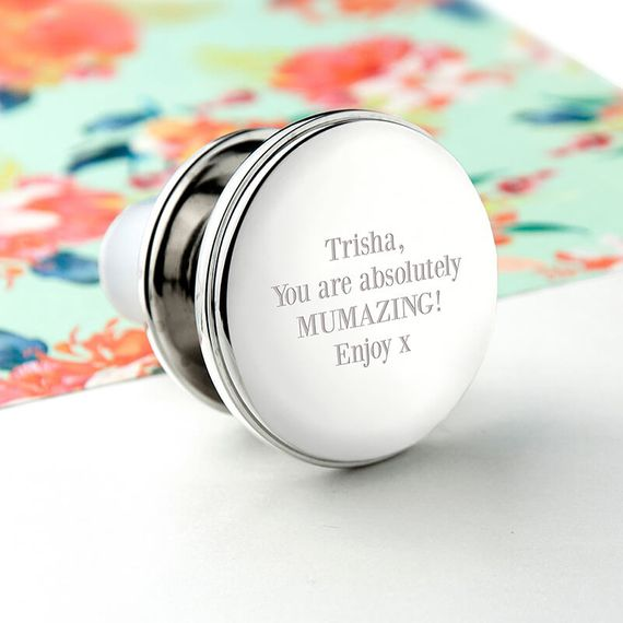 Personalised Silver Plated Wine Bottle Stopper