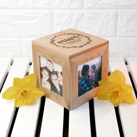Personalised Mum's Photo Frame Keepsake Box