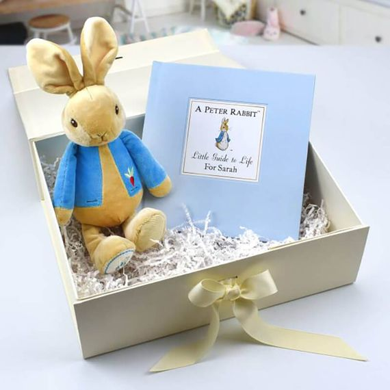 Personalised Peter Rabbit Guide to Life Plush Toy Gift Set
