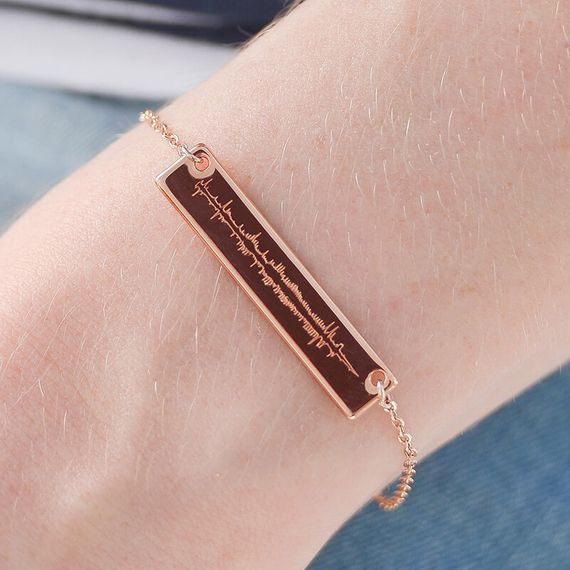 Personalised Sound Wave Bracelet