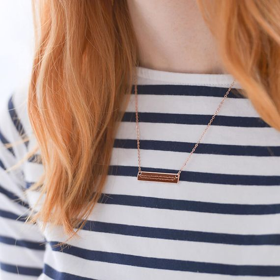 Personalised Sound Wave Necklace