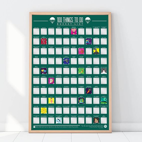 100 Things To Do Poster