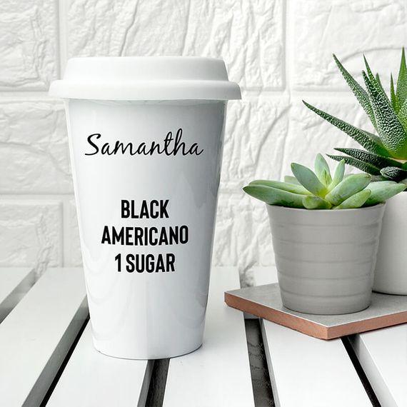 Personalised 'My Order' Travel Mug