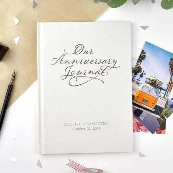 Personalised Anniversary Journal