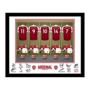 Personalised Arsenal Dressing Room Framed Print
