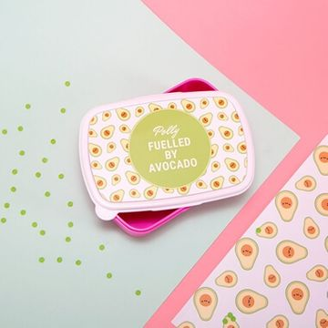 Personalised 'Fuelled By Avocado' Lunch Box