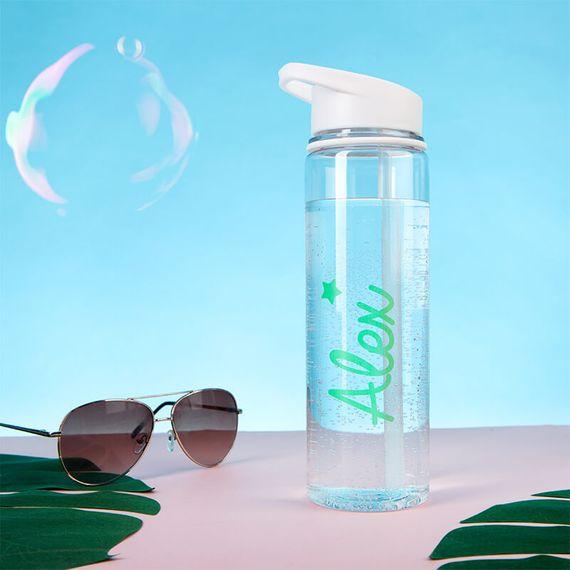 Personalised Green Star Water Bottle