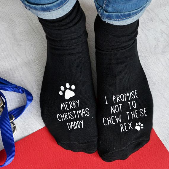 Personalised Christmas Socks From The Dog