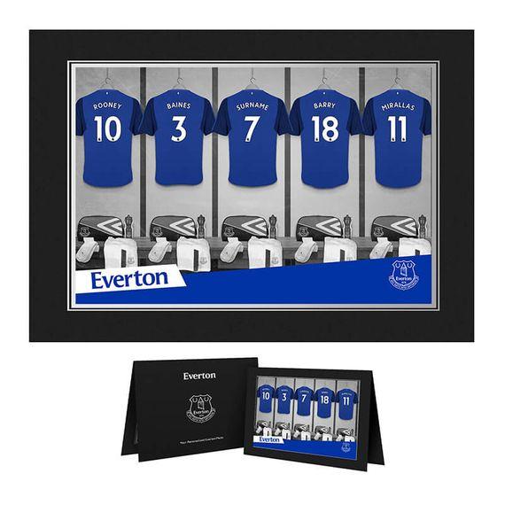 Personalised Everton Dressing Room Photo Folder