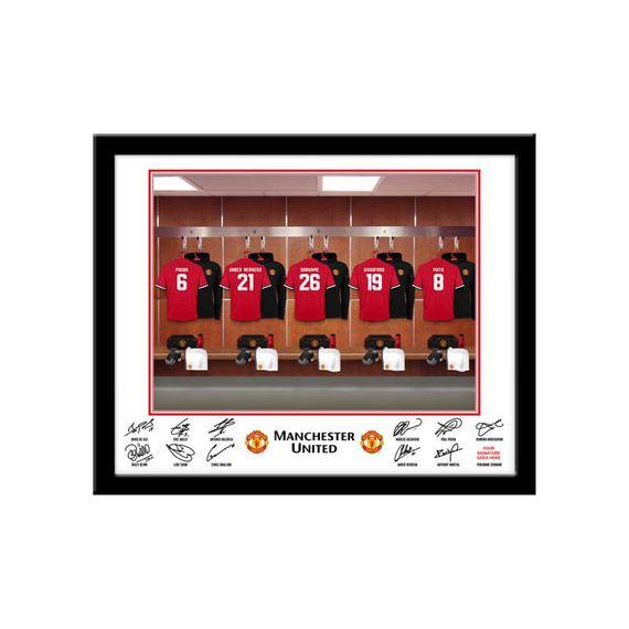 Personalised Manchester United Dressing Room Framed Print