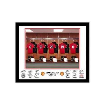 Personalised Manchester United Dressing Room Framed Print