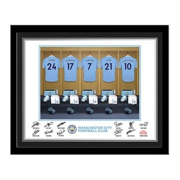 Personalised Man City Dressing Room Photo