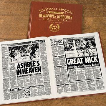 Personalised Hull City Football Team History Book