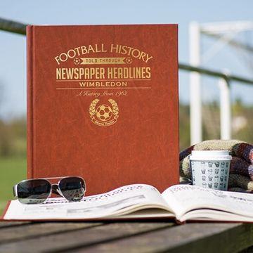Personalised Wimbledon Football Team History Book