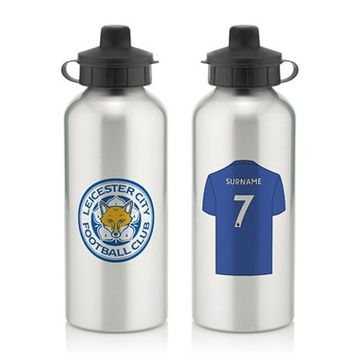 Personalised Leicester City FC Water Bottle