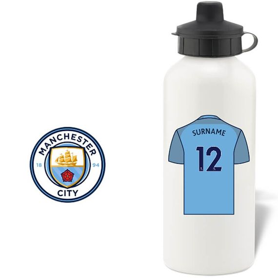 Personalised Manchester City FC Water Bottle